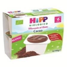 HIPP MERENDA AL LATTE - GUSTO CACAO - DAL SESTO MESE - 4 x 100 G