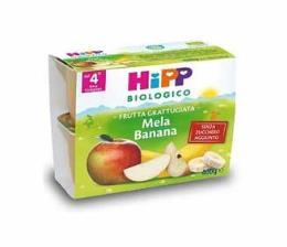 HIPP MERENDA DI FRUTTA GRATTUGIATA MELA E BANANA - DAL QUARTO MESE - 4 x 100 G