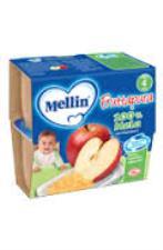 MELLIN FRUTTAPURA 100% MELA DAL QUARTO MESE 4 x 100 G