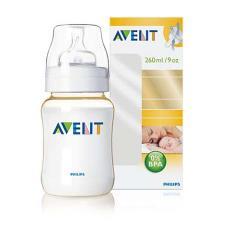 AVENT BIBERON 260 ml con tettarella in silicone 0% BPA (senza bisfenolo A)